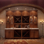 Bathroom and Kitchen Cabinets in Denver and Boulder | Kreative Kitchens | Dark wood Wine Hutch