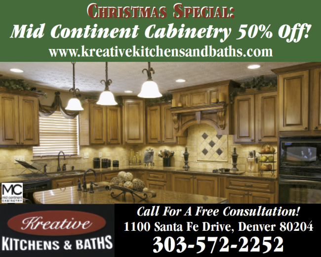 50% Off: December Denver Kitchen Cabinet Special